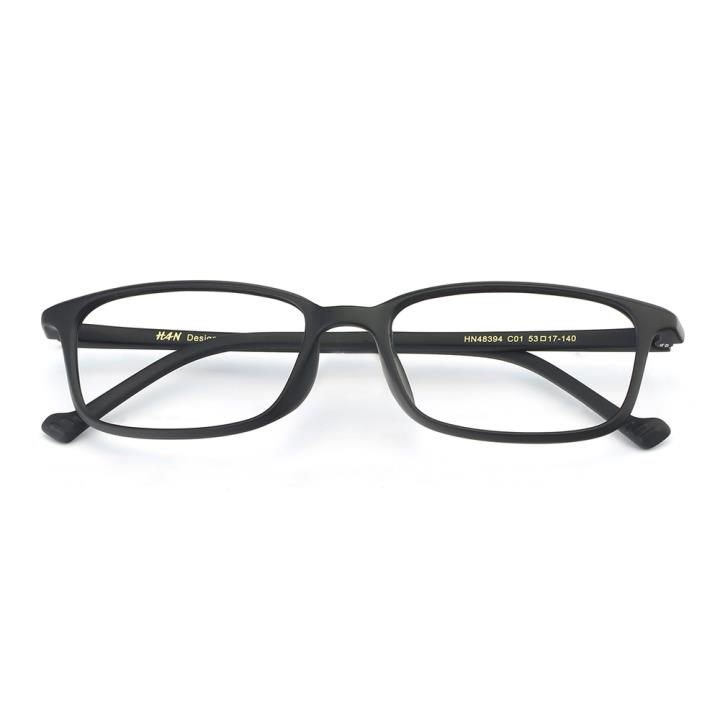 HAN MEGA-TR钛塑光学眼镜架-黑色(HN48394-C01)