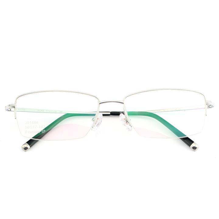 HAN纯钛光学眼镜架-亮银(J81888-C2)