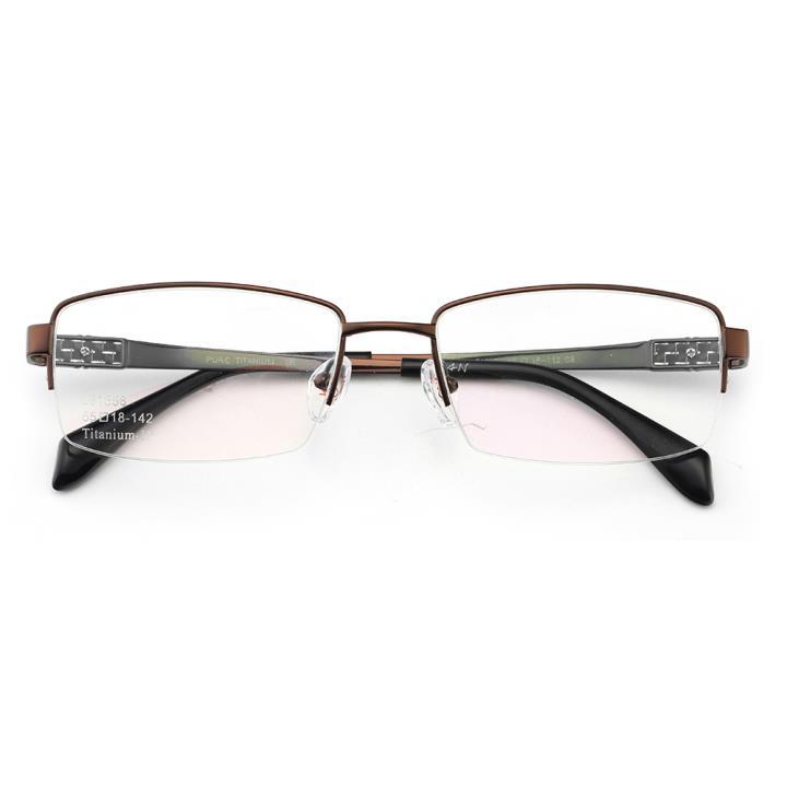 HAN时尚光学眼镜架J81558-C9哑棕色