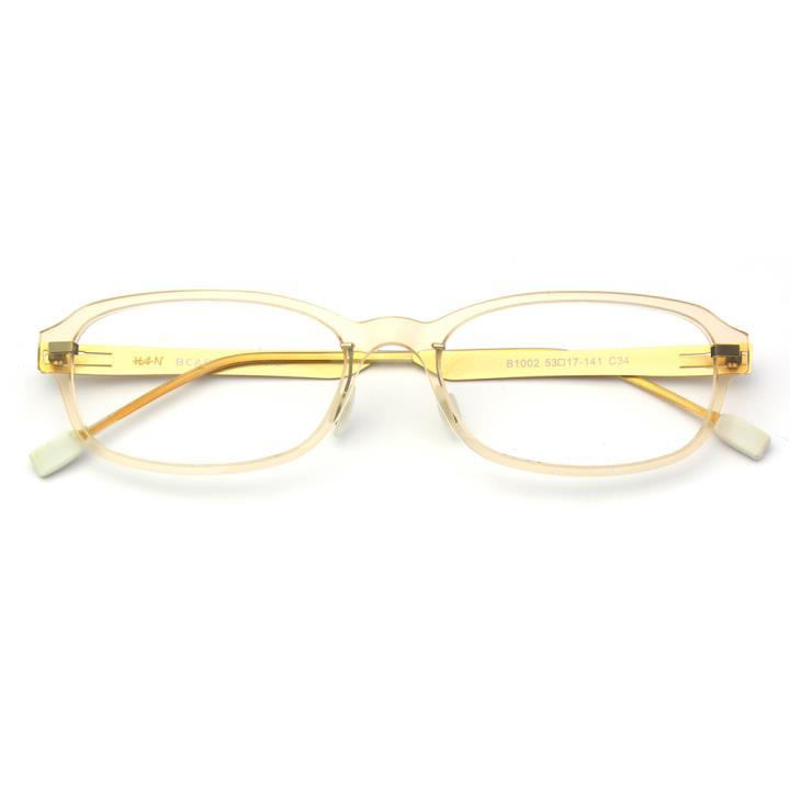 HAN尼龙不锈钢光学眼镜架-浅茶色(B1002-C34)