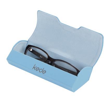 kede数码系列高档格纹手工眼镜盒(颜色随机)