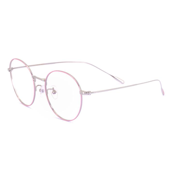 HAN TITANIUM纯钛光学眼镜架HN41032M C5粉色