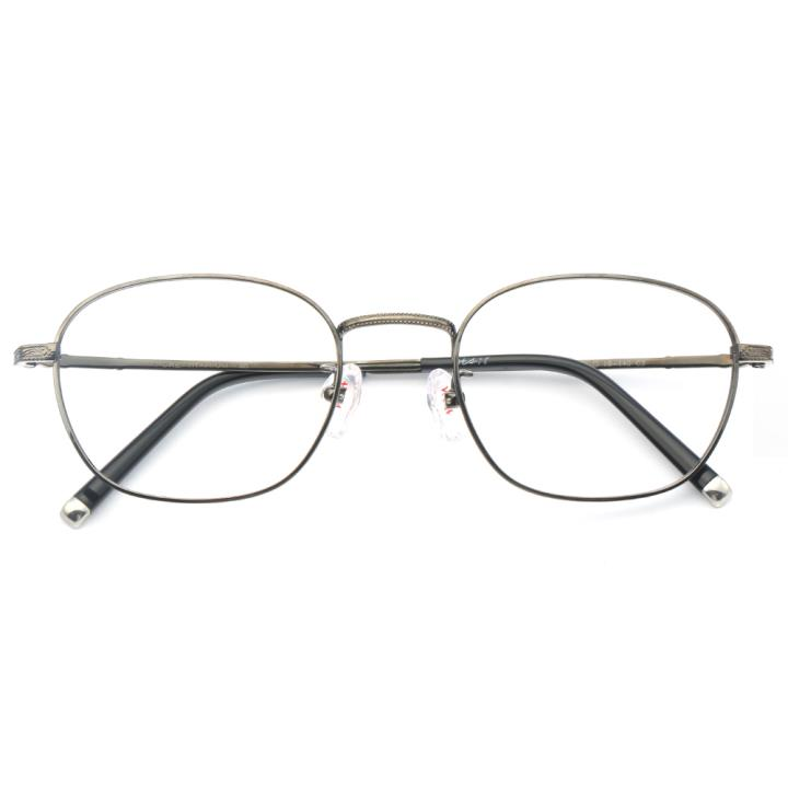 HAN纯钛光学眼镜架-枪灰色(J81871-C3)