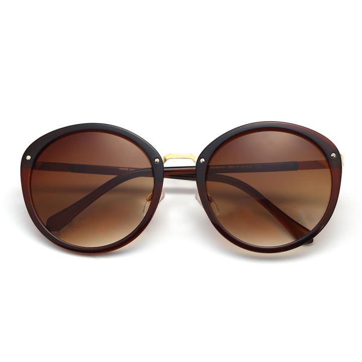 HAN时尚防紫外线太阳镜HD59301-S04-4 棕框渐进茶片