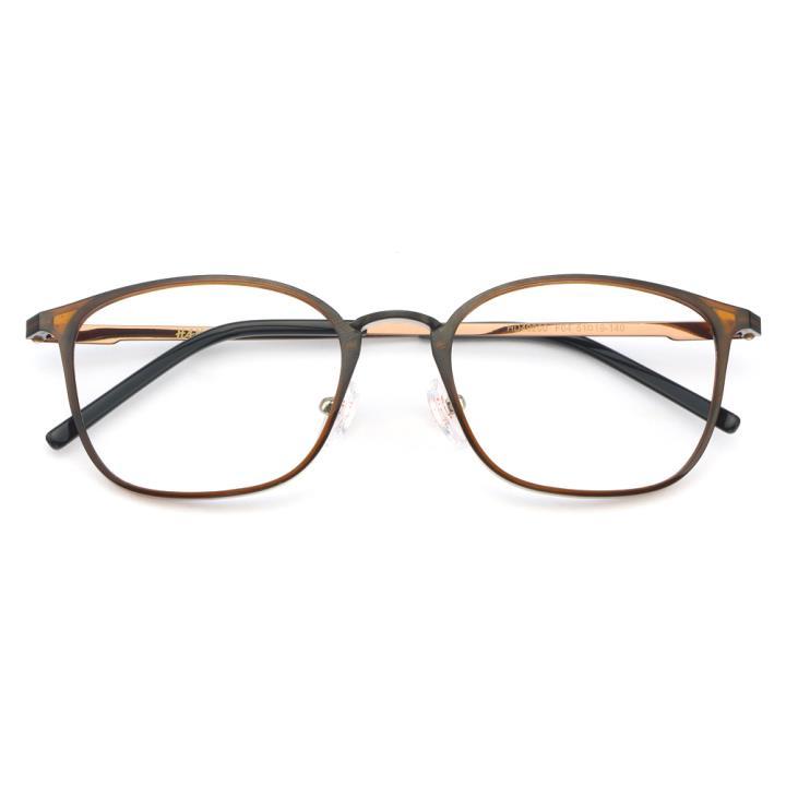 HAN MEGA-TR钛塑光学眼镜架-复古棕色(HD49200-F04)