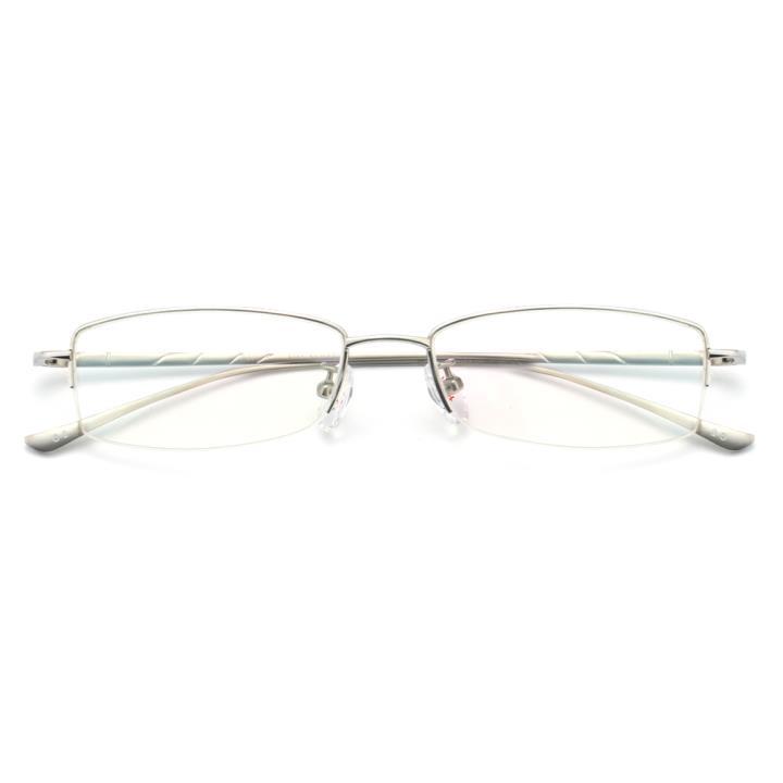 HAN纯钛光学眼镜架-银色(D-8651-C-2)