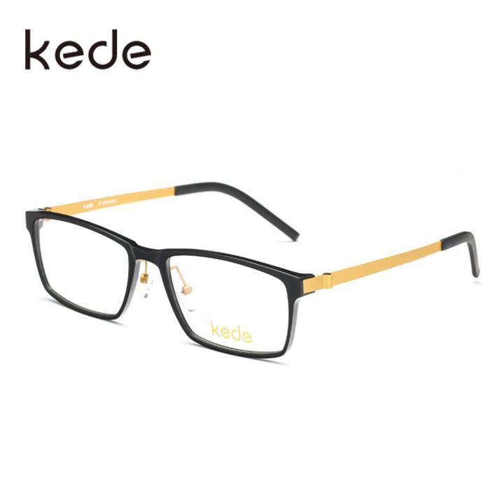 Kede时尚光学眼镜Ke115004-C3亮黑色