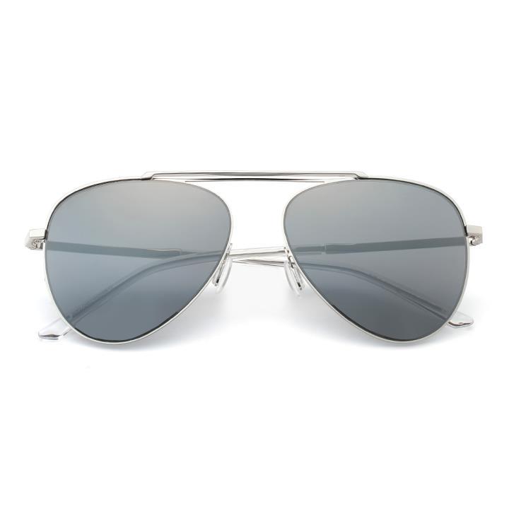HAN SUNGLASSES不锈钢防UV太阳眼镜-银框银色片(HN52030M C5)