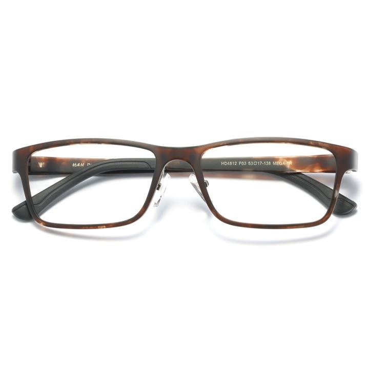HAN时尚光学眼镜架HD4812-F03 虎斑棕褐