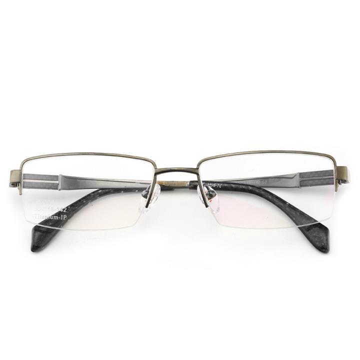 HAN纯钛光学眼镜架J81554-C3哑枪色