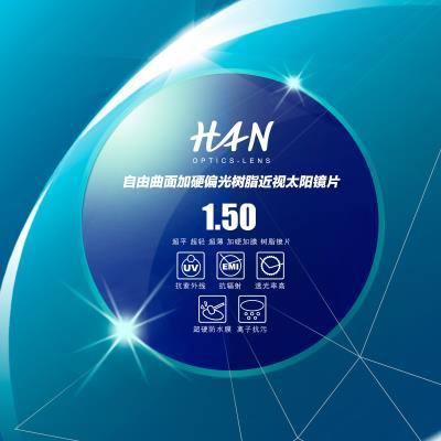HAN 1.50偏光树脂近视太阳镜片(蓝色)