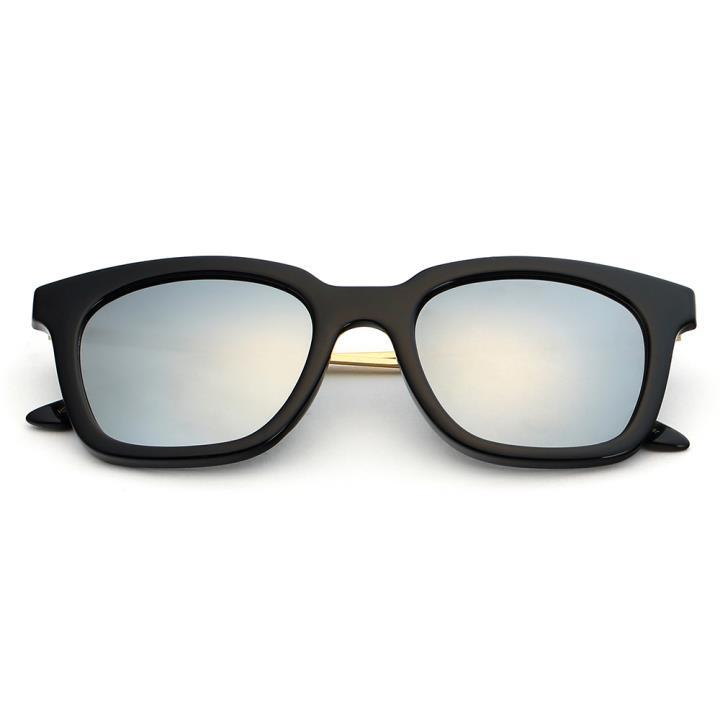 HAN时尚偏光太阳镜HD5806-S09 黑框银色片