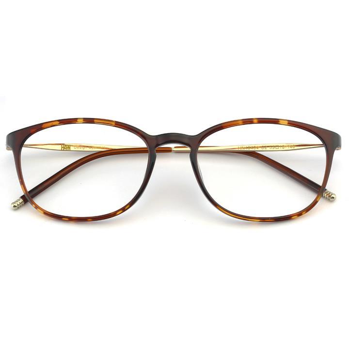 HAN TR不锈钢光学眼镜架-复古玳瑁(HN49404-C2)