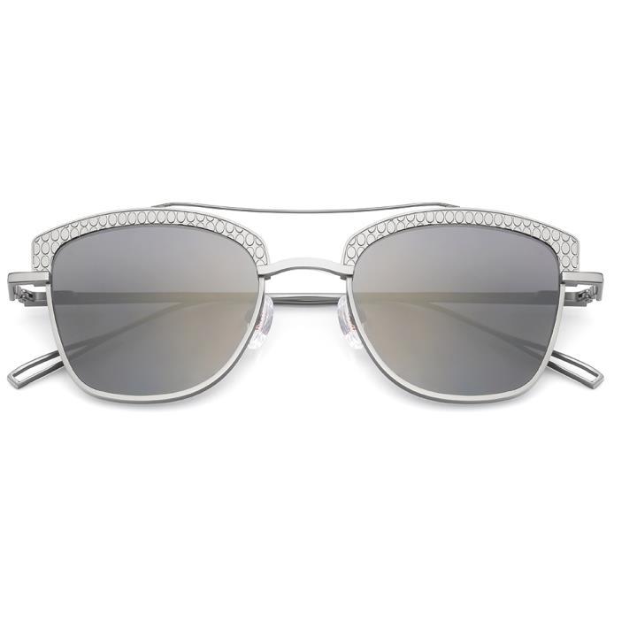 HAN RAZR-X9白铜不锈钢太阳眼镜-银框银片(HD59124 S09)