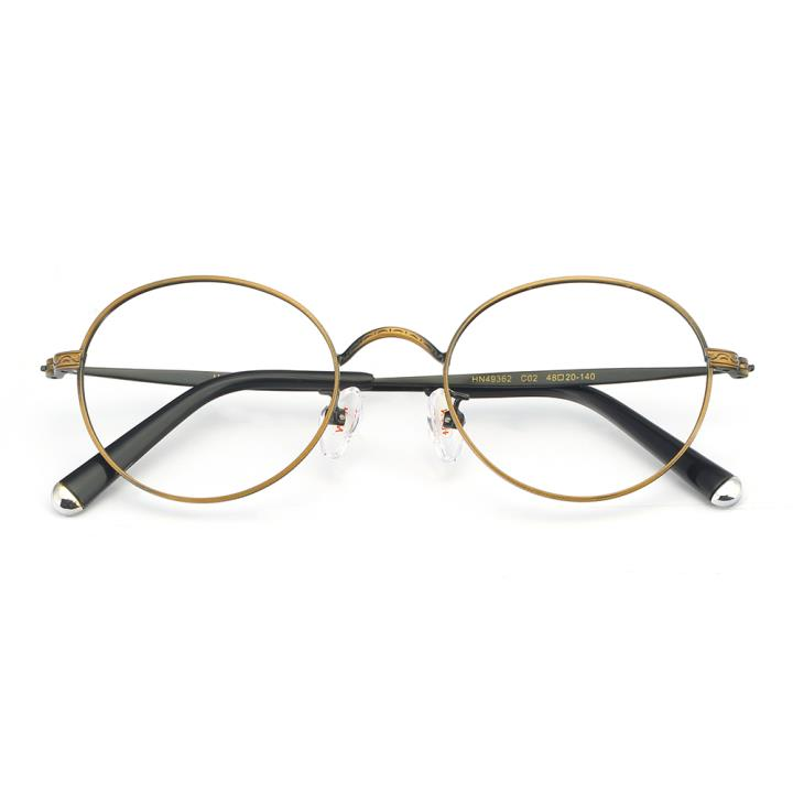 HAN合金光学眼镜架-复古铜咖(HN49362-C02)