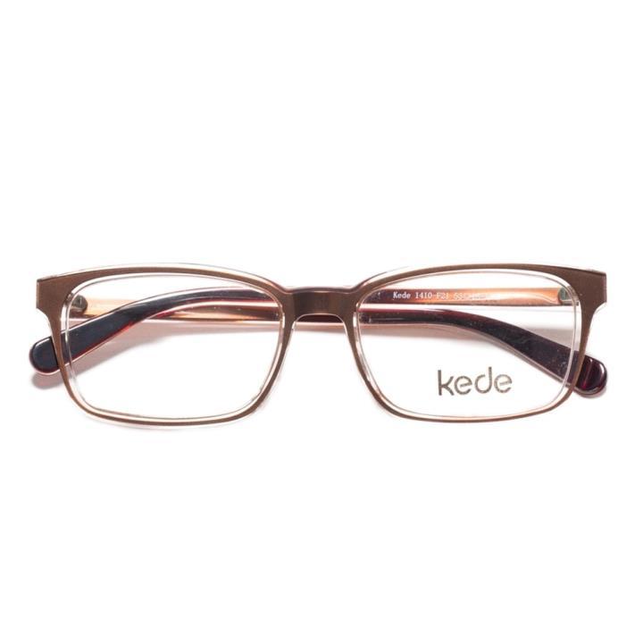 Kede时尚光学眼镜架Ke1410-F21  咖啡色
