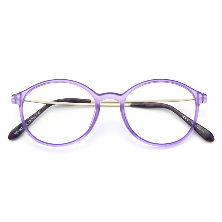 HAN塑钢时尚光学眼镜架-哑紫色(HD4881-F08)