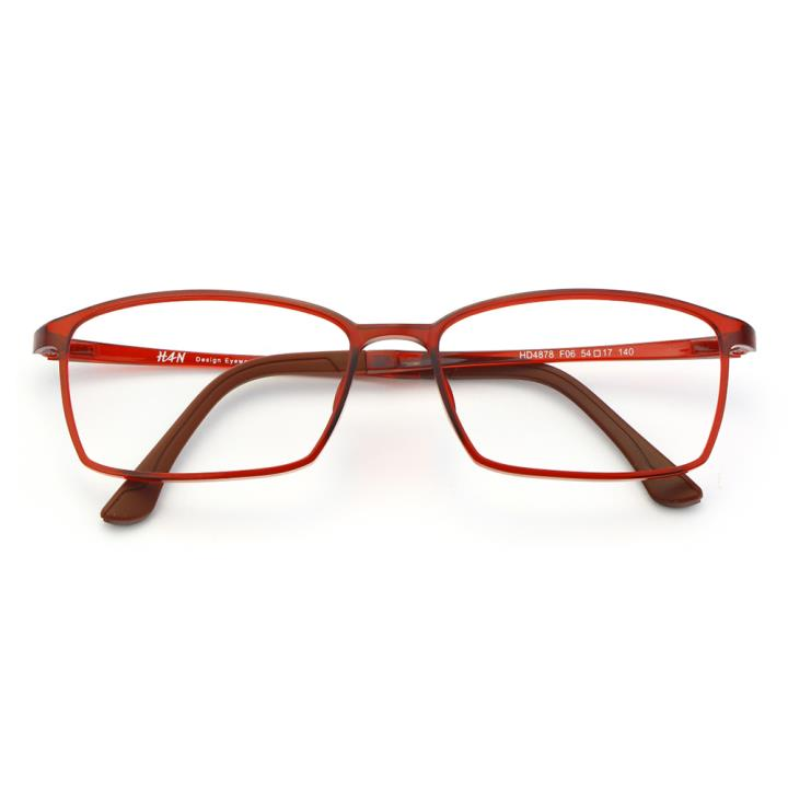 HAN塑钢时尚光学眼镜架-酒红(HD4878-F06)