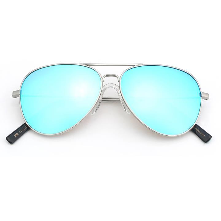 HAN COLLECTION不锈钢儿童太阳眼镜-银框冰蓝片(HN52004 C4/M)
