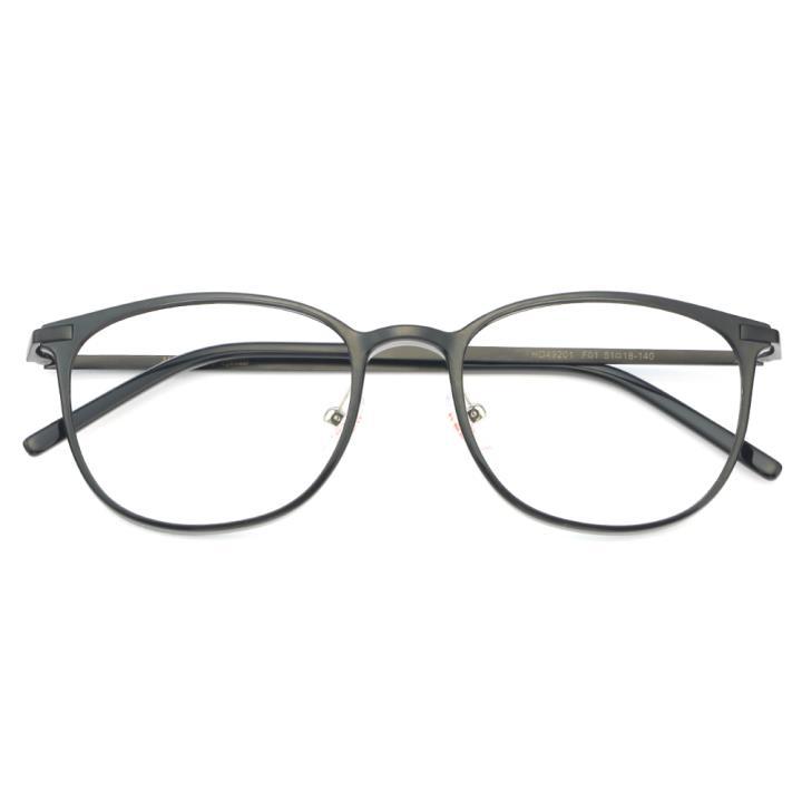 HAN MEGA-TR钛塑不锈钢光学眼镜架-经典亮黑(HD49201-F01)