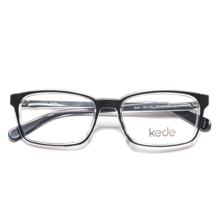 Kede时尚光学眼镜架Ke1410-F01 黑色