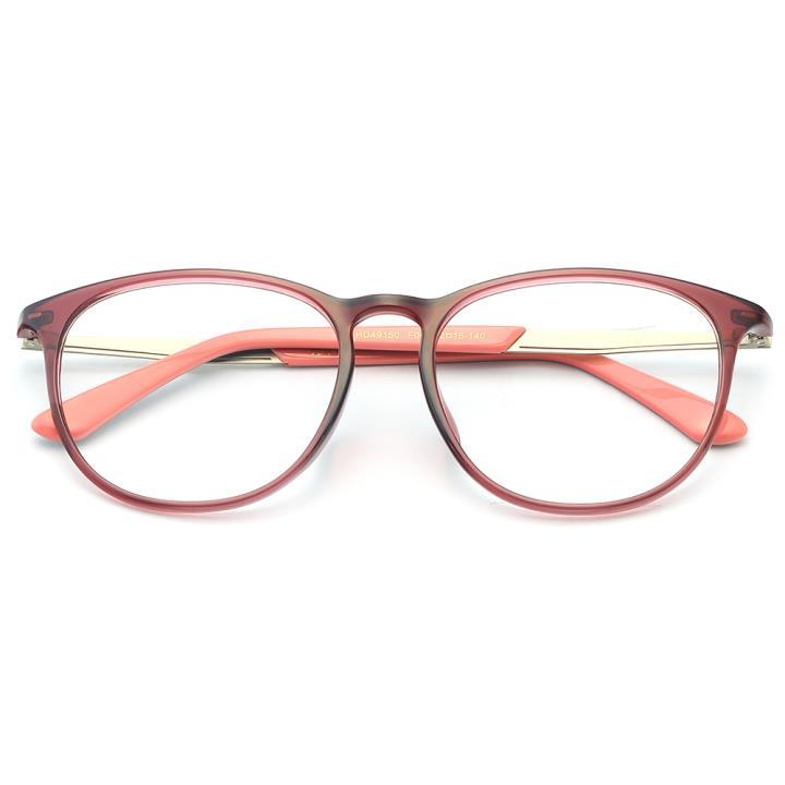 HAN MEGA-TR钛塑板材光学眼镜架-优雅紫粉(HD49150-F08)