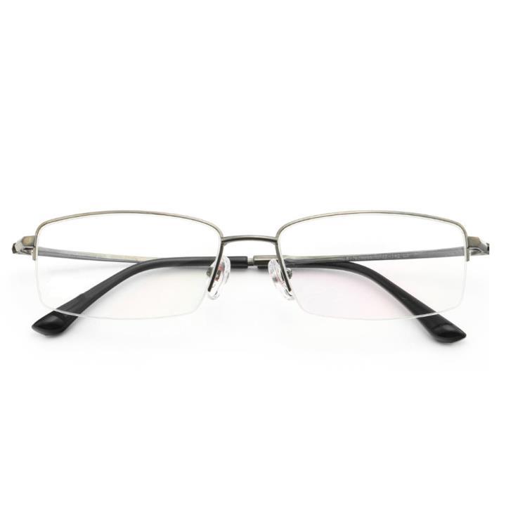 HAN纯钛光学眼镜架-低调枪灰(J81763-C3)