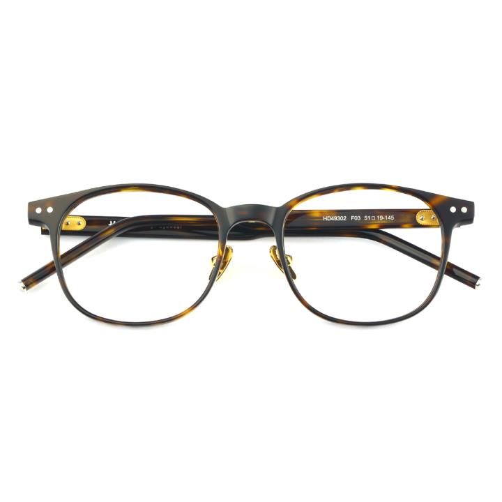 HAN 板材光学眼镜架-复古玳瑁(HD49302-F03)