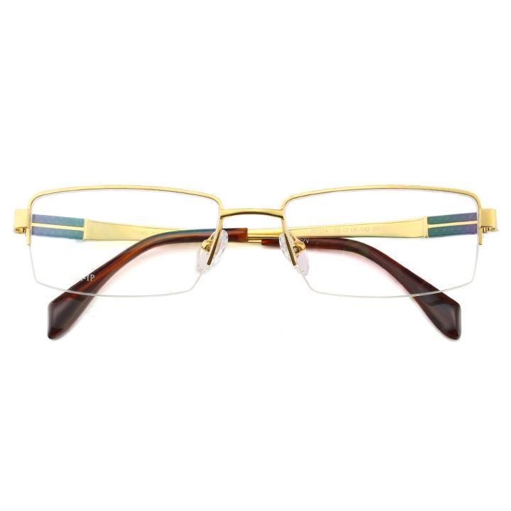HAN纯钛光学眼镜架J81554-C1亮金色
