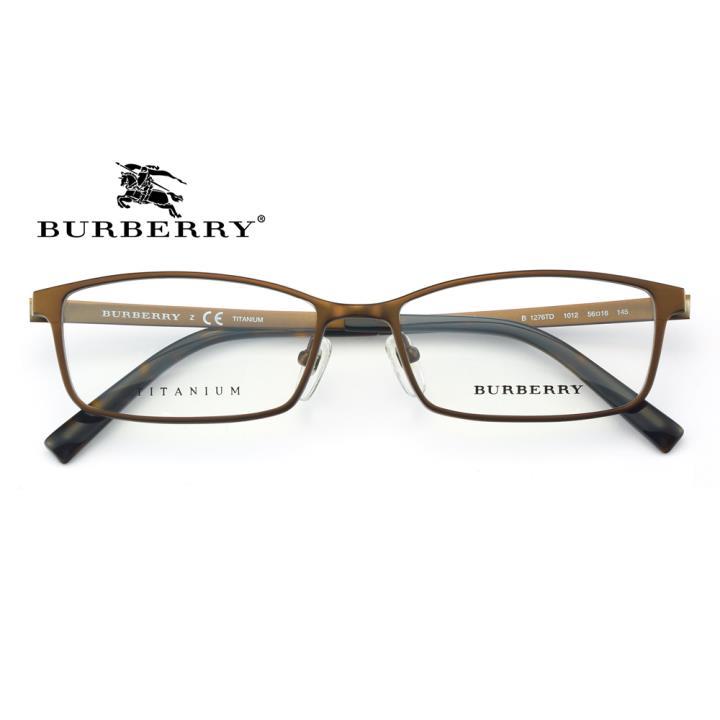 BURBERRY钛合金框架眼镜0BE1276TD 1012 56