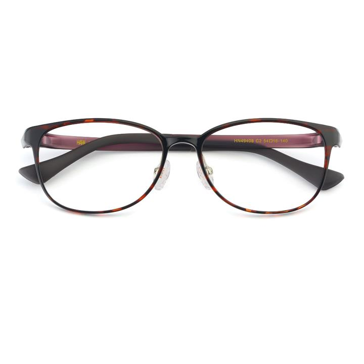 HAN TR光学眼镜架-玳瑁时尚紫(HN49408-C2)