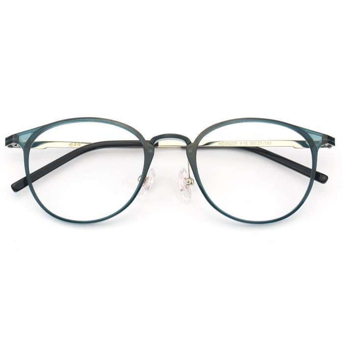 HAN MEGA-TR钛塑不锈钢光学眼镜架-清新蓝绿(HD49207-F15)