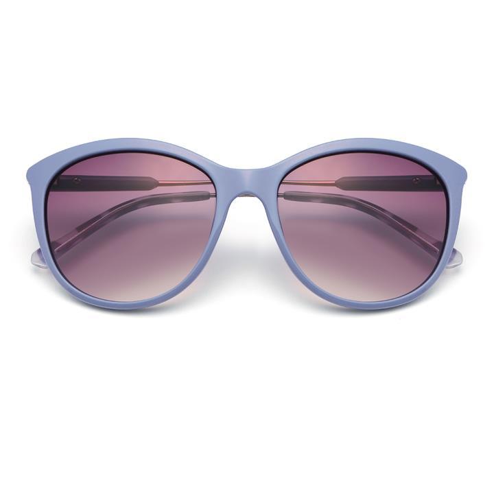 HAN CX尼龙防紫外线太阳镜-蓝框紫片(HD59112-S07)