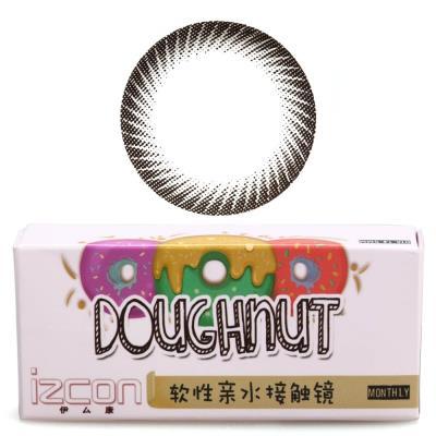 伊厶康甜甜圈月抛彩色隐形眼镜1片装-黑色