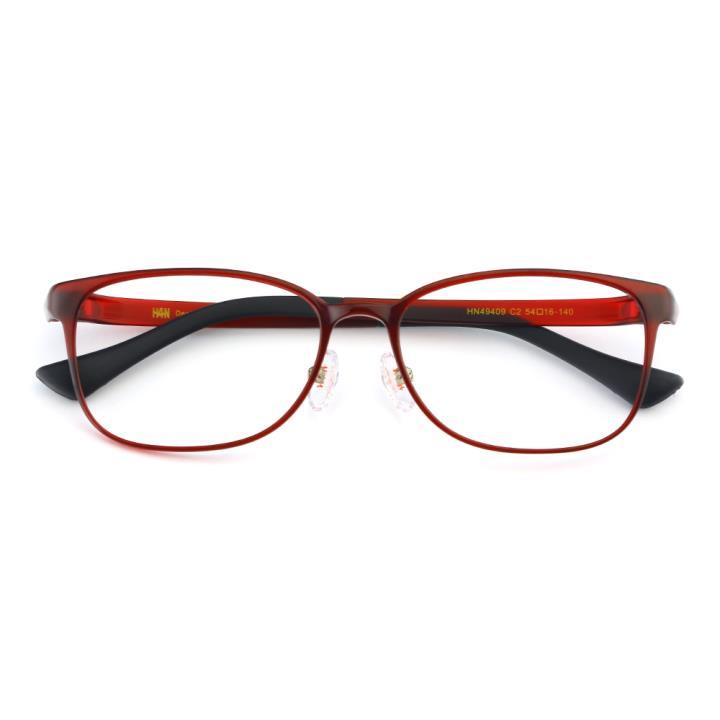 HAN TR光学眼镜架-酒红色(HN49409-C2)