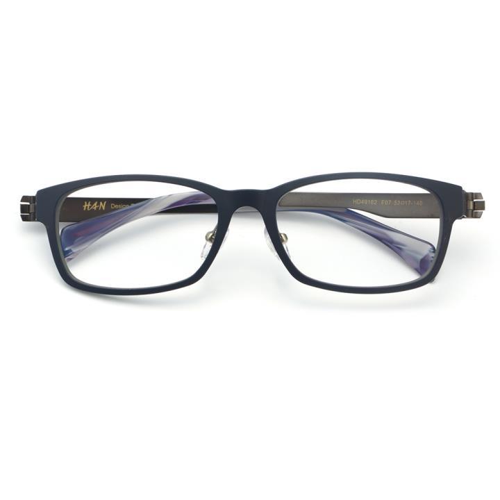 HAN TR金属光学眼镜架-深蓝色(HD49162-F07)