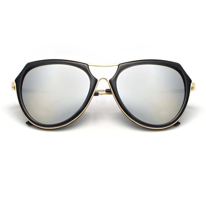 HAN时尚防紫外线太阳镜HD59302-S04 黑框银色片