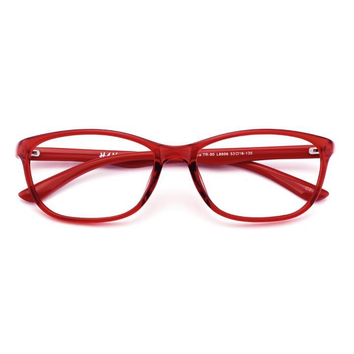 HAN MEGA-TR钛塑光学眼镜架-炫丽红色(8806-C7)