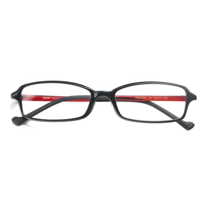 HAN MEGA-TR钛塑光学眼镜架-亮黑色(HN48393-C01)