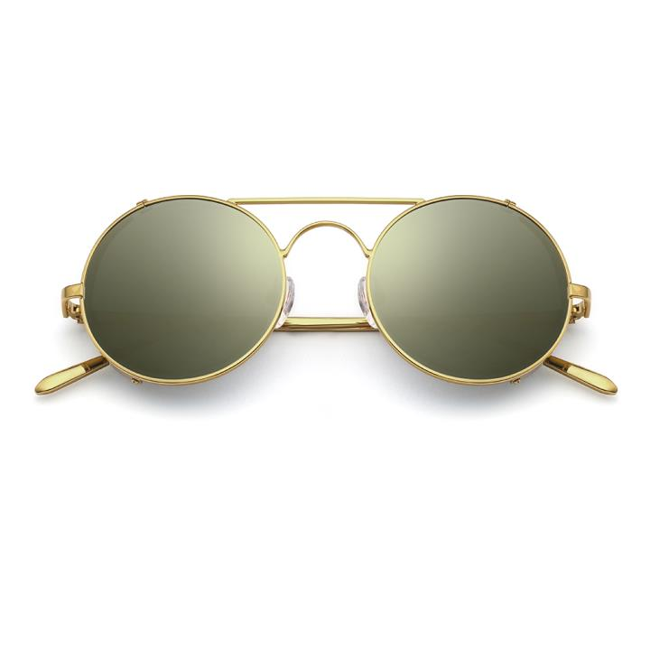 HAN RAZR-X9不锈钢偏光太阳眼镜-金框灰水银片(HN51201 C1)