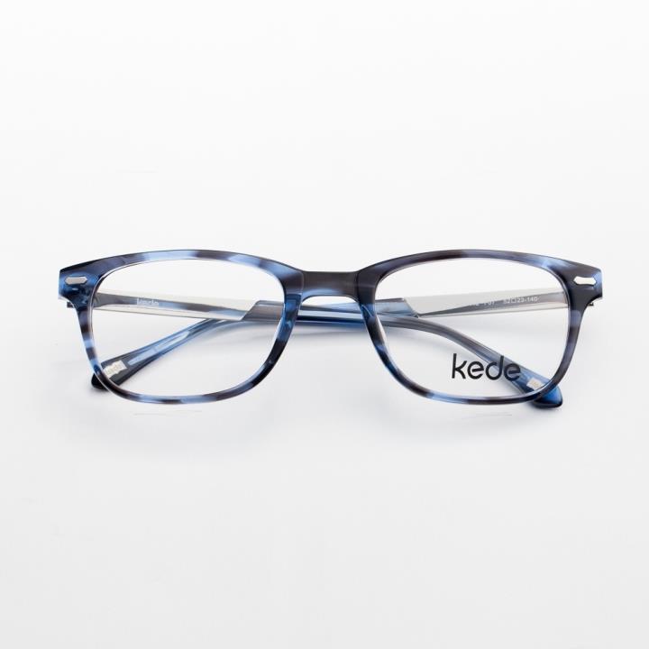 Kede時尚光學眼鏡架Ke1442-F07  藍黑色