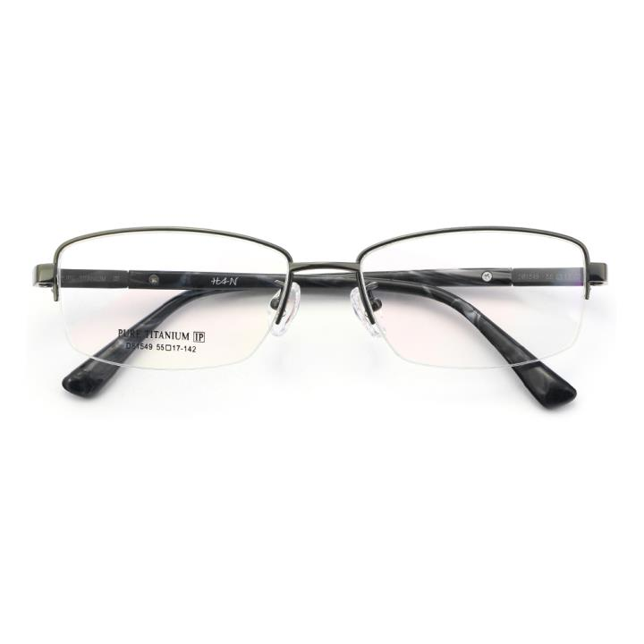 HAN纯钛时尚光学眼镜架-低调枪灰(D81549-C3)