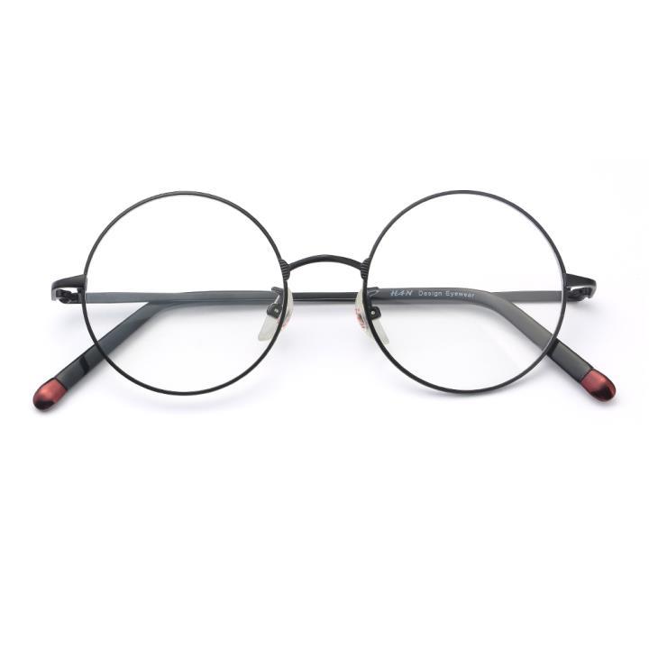 HAN时尚光学眼镜架-金属哑黑(HD4811-F01)