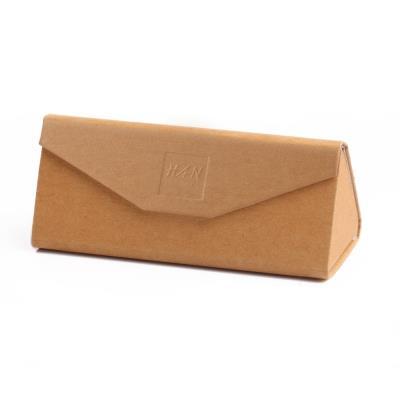 HAN三角折叠手工眼镜盒 牛皮纸