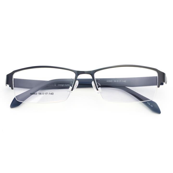 HAN不锈钢TR光学架-(M940-C02) 亮黑蓝
