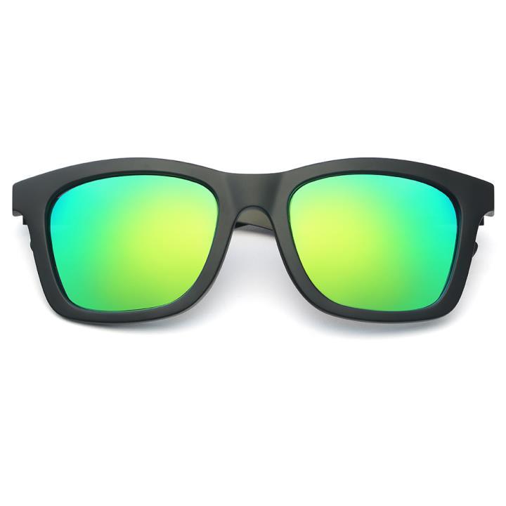 HAN CX尼龙不锈钢防紫外线太阳镜-黑框绿片(HD59109-S15)
