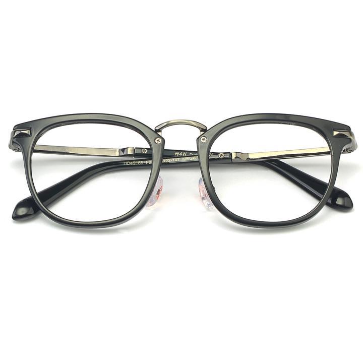 HAN MEGA-TR钛塑光学眼镜架-亮黑色(HD49165-C2)