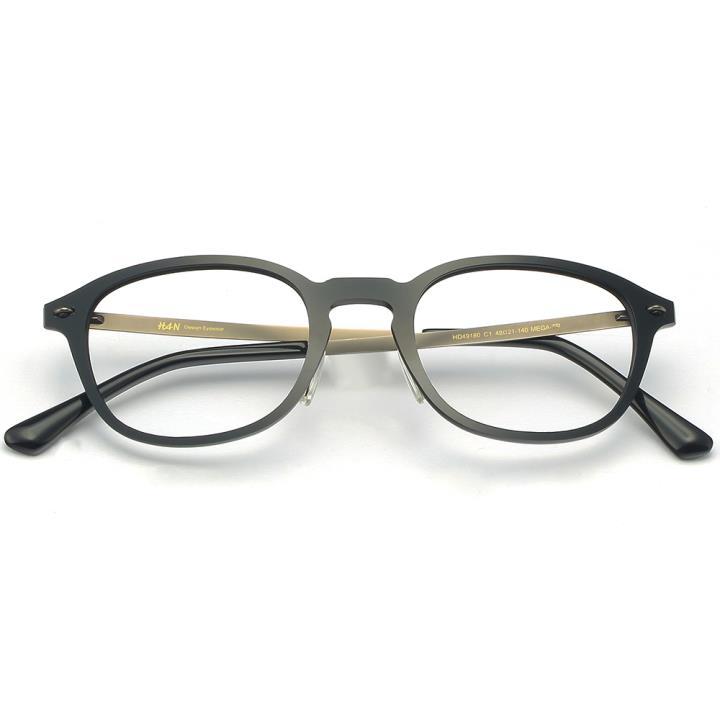 HAN MEGA-TR钛塑光学眼镜架-亮黑色(HD49180-C1)