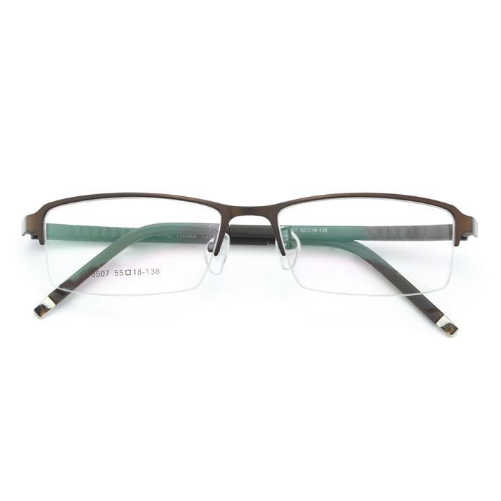 HAN金属时尚光学眼镜架-咖色(5507-F21)