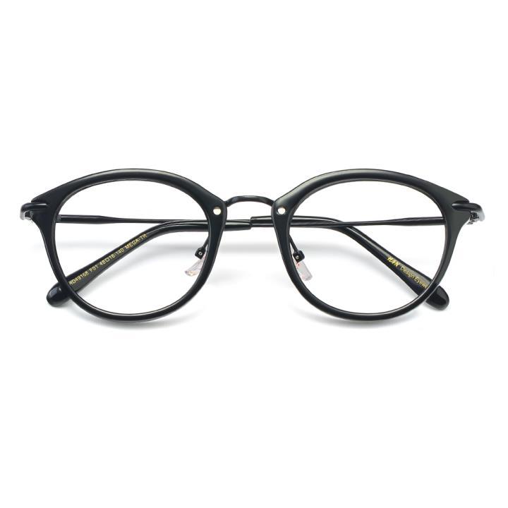 HAN MEGA-TR钛塑光学眼镜架-亮黑色(HD49168-C1)